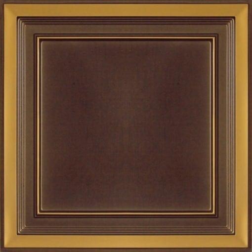 233 Antique Gold Faux Tin Ceiling Tile