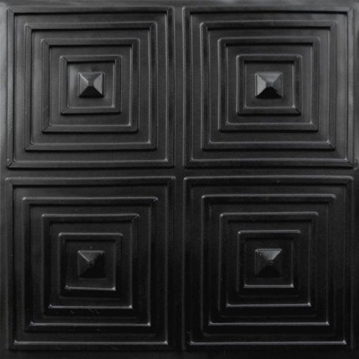 125 Black Matte  Faux Tin Ceiling Tile