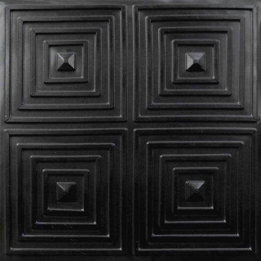 125 Black Matte  Faux Tin Ceiling Tile