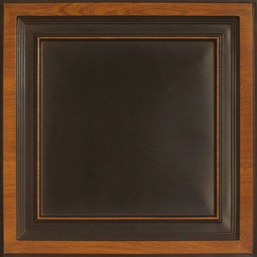 233 Antique Teakwood Faux Tin Ceiling Tile