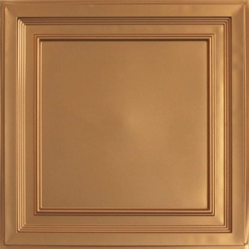 233 Gold Faux Tin Ceiling Tile