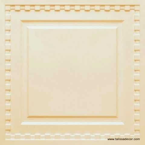 234  Faux Tin Ceiling Tile - Cream Pearl