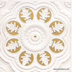 240 White Pearl-Brass Faux Tin Ceiling Tile