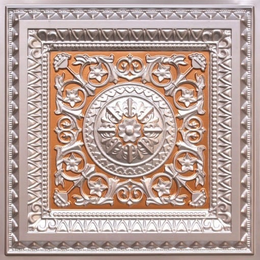 223 Silver-Gold Faux Tin Ceiling Tile