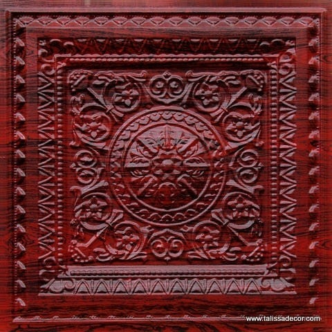 223 Rosewood Faux Tin Ceiling Tile