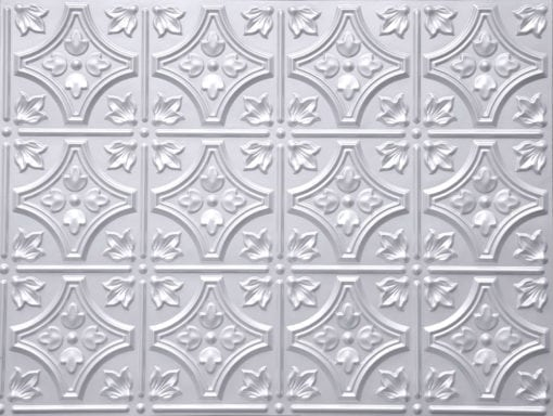 BP-10 White Pearl Faux Tin PVC Panel - Talissa Signature Collection