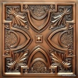 TD11 Faux Tin Ceiling Tile - Aged Copper