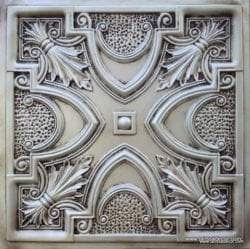 TD11  Faux Tin Ceiling Tile -  Antique White