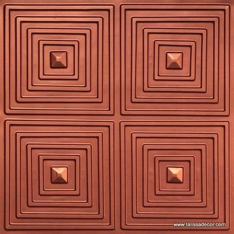 125 Copper Faux Tin Ceiling Tile
