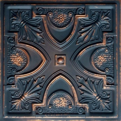 TD11 Faux Tin Ceiling Tile - Graphite Gold