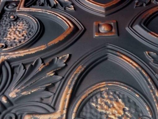 TD11 Faux Tin Ceiling Tile - Graphite Gold