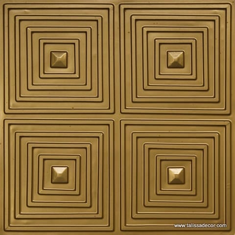 125 Brass Faux Tin Ceiling Tile