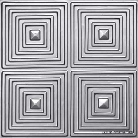 125 Silver Faux Tin Ceiling Tile