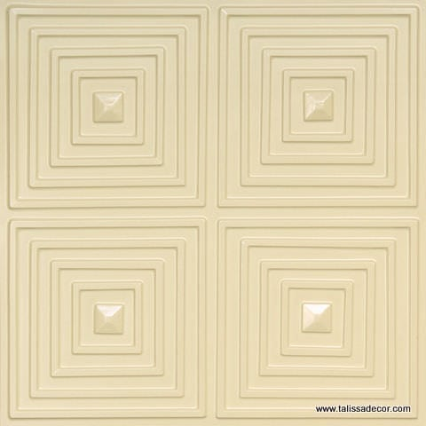 125 Cream Pearl Faux Tin Ceiling Tile