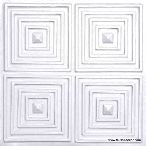 125 White Pearl Faux Tin Ceiling Tile