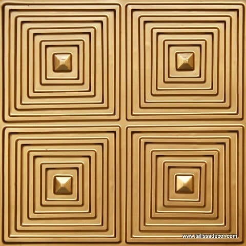 125 Gold Faux Tin Ceiling Tile