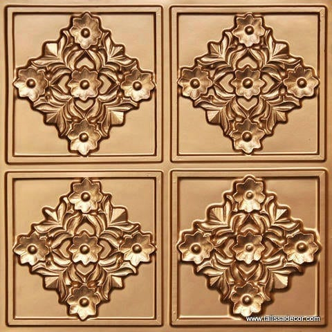 129 Gold Faux Tin Ceiling Tile