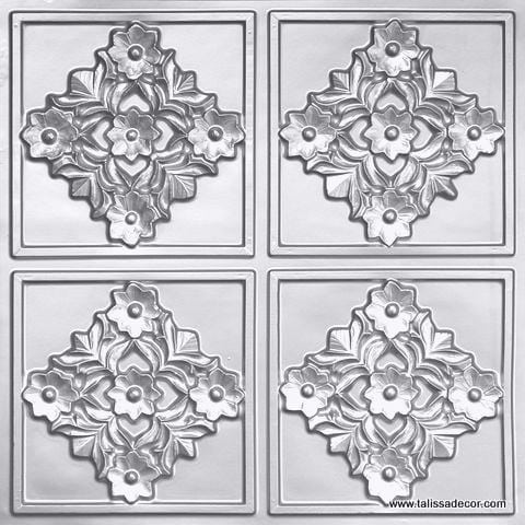 129 Silver Faux Tin Ceiling Tile