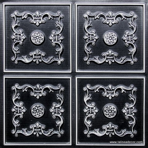 130 Antique Silver Faux Tin Ceiling Tile