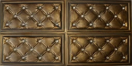 LT315 Vintage Gold Faux Leather Wall Panel
