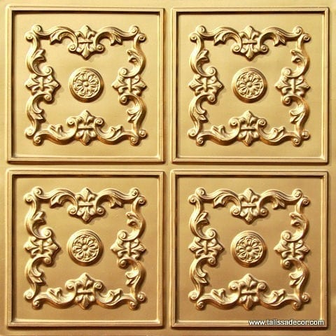 130 Gold Faux Tin Ceiling Tile