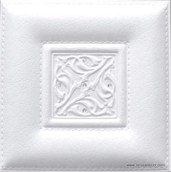 LT51 White Faux Leather Wall Panel