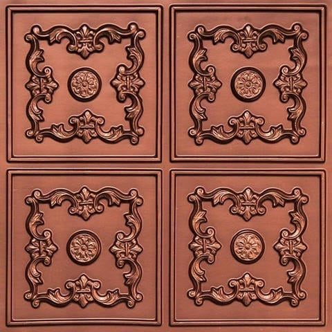 130 Copper Faux Tin Ceiling Tile