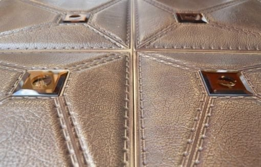 LT86 Caramel Faux Leather Wall Panel
