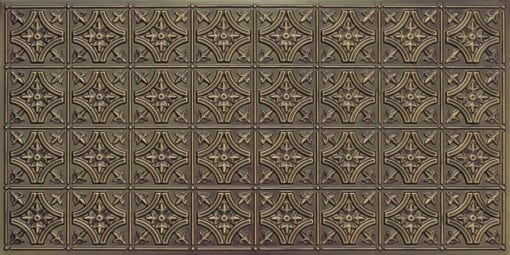 8150 Antique Brass Faux Tin Ceiling Tile