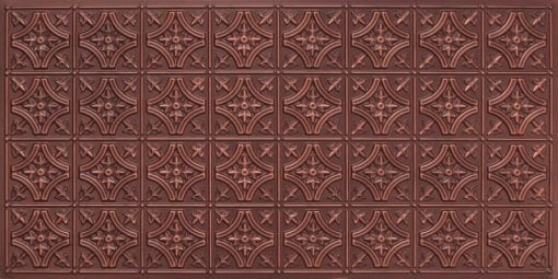 8150 Antique Copper Faux Tin Ceiling Tile