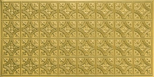 8150 Brass Faux Tin Ceiling Tile