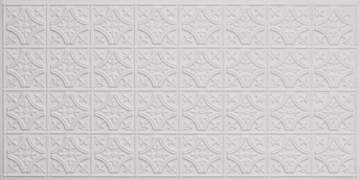 8150 White Matte Faux Tin Ceiling Tile