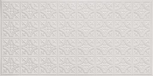 8150 White Pearl Faux Tin Ceiling Tile