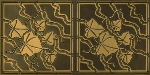 8202 Antique Brass Faux Tin Ceiling Tile