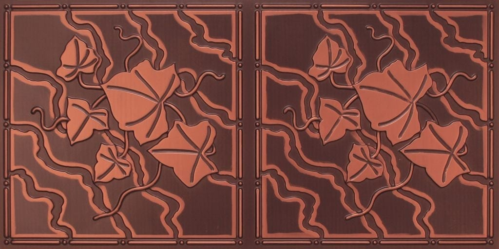 8202 Antique Copper Faux Tin Ceiling Tile