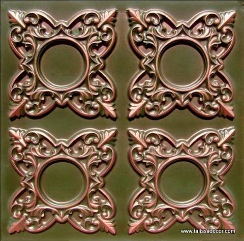 133 Patina Copper  Faux Tin Ceiling Tile