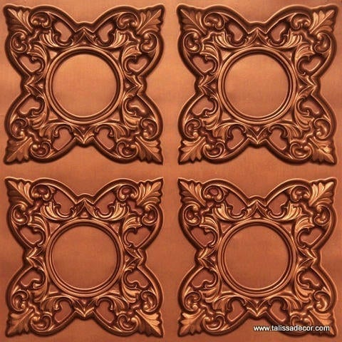 133 Copper Faux Tin Ceiling Tile