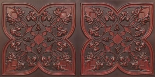 8212 Antique Rosewood Faux Tin Ceiling Tiles