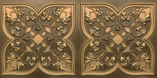 8212 Antique Brass Faux Tin Ceiling Tiles