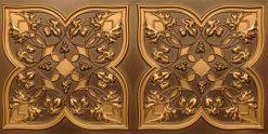 8212 Antique Gold Faux Tin Ceiling Tiles