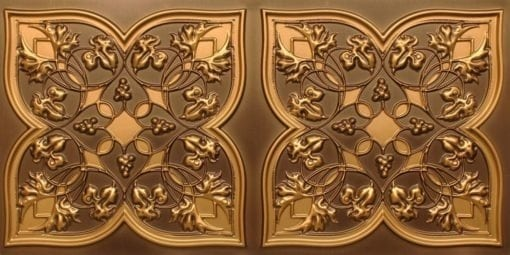 8212 Antique Gold Faux Tin Ceiling Tiles