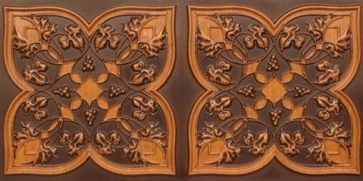 8212 Antique Teakwood Faux Tin Ceiling Tiles