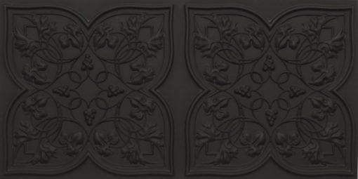 8212 Black Matte Faux Tin Ceiling Tiles