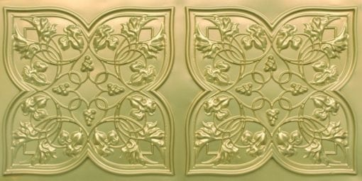 8212 Brass Faux Tin Ceiling Tiles