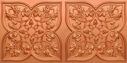 8212 Copper Faux Tin Ceiling Tiles