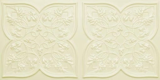 8212 Cream Pearl Faux Tin Ceiling Tiles