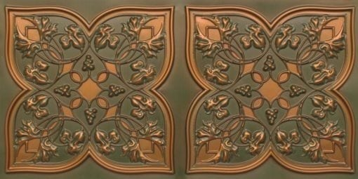 8212 Patina Copper Faux Tin Ceiling Tiles