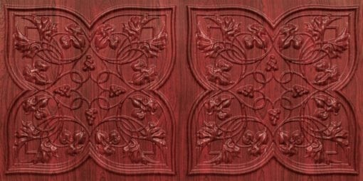 8212 Rosewood Faux Tin Ceiling Tiles