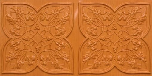 8212 Teakwood Faux Tin Ceiling Tiles
