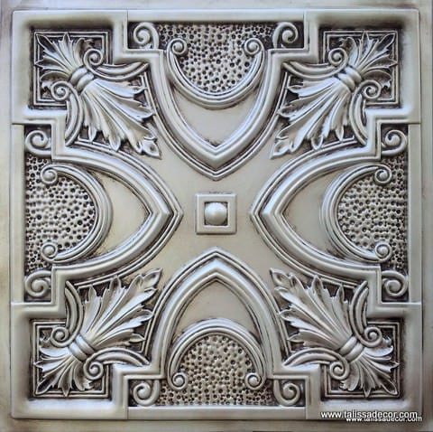 TD11 Antique White Faux Tin Ceiling Tile - Talissa Signature Collection